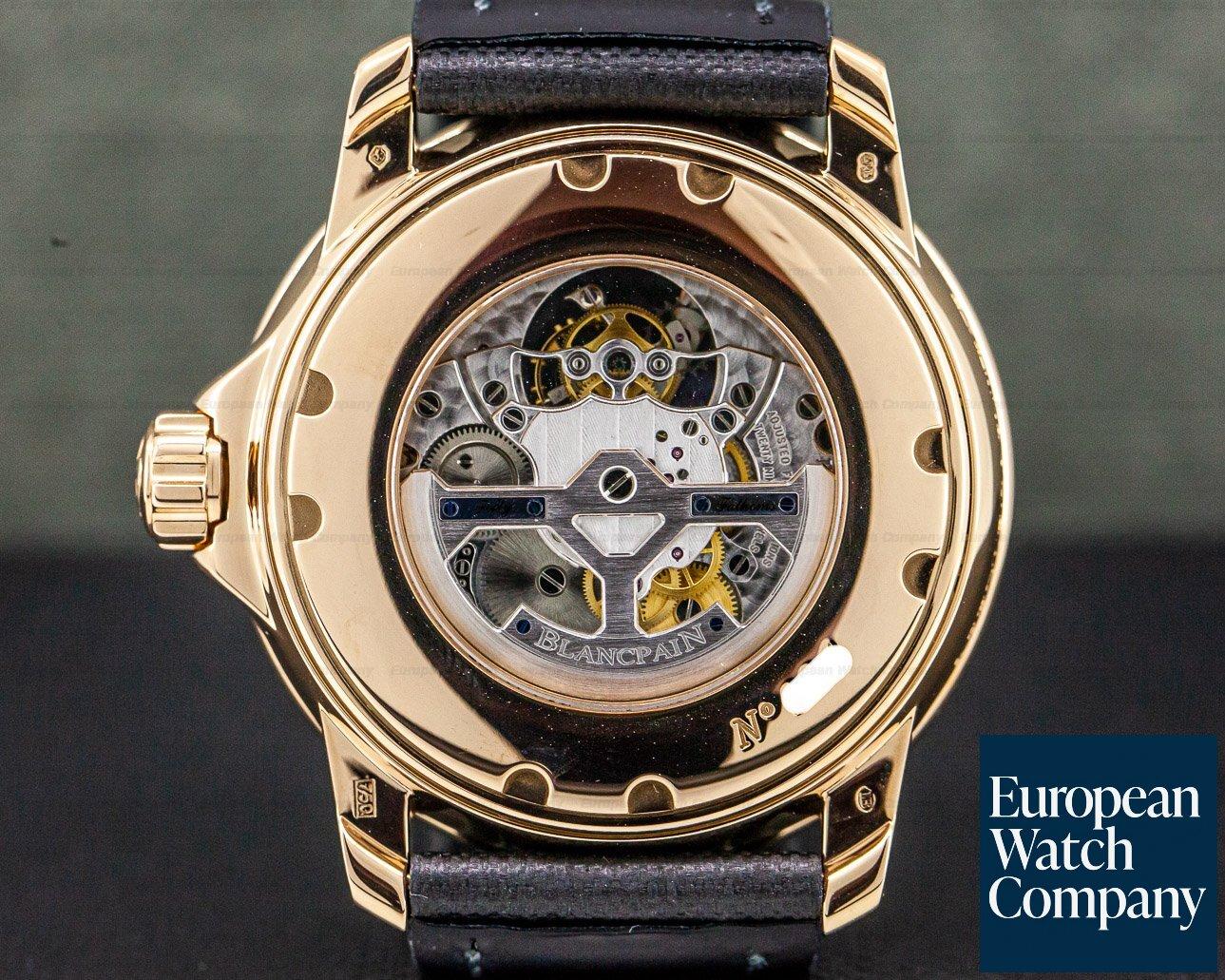 Blancpain 5025-3630-52A Fifty Fathoms 8-Day Tourbillon 18K Rose Gold / Kevlar