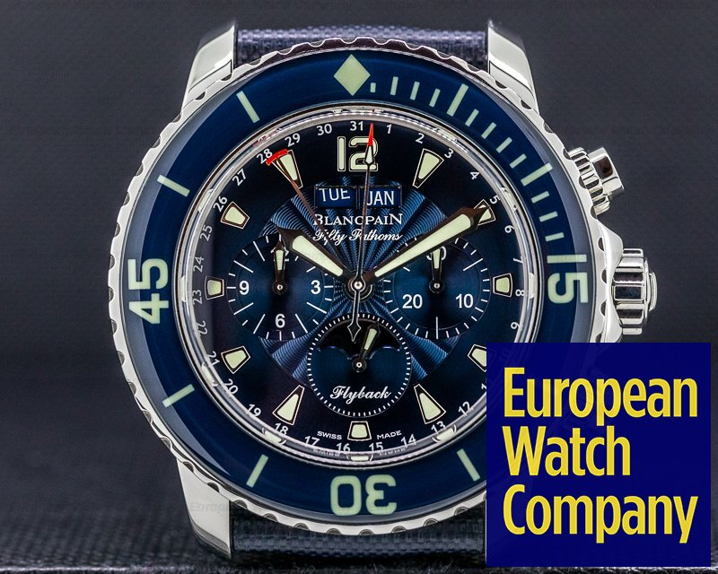 Blancpain 5066F-1140-52B Fifty Fathoms Complete Calendar Flyback SS / Blue Dial