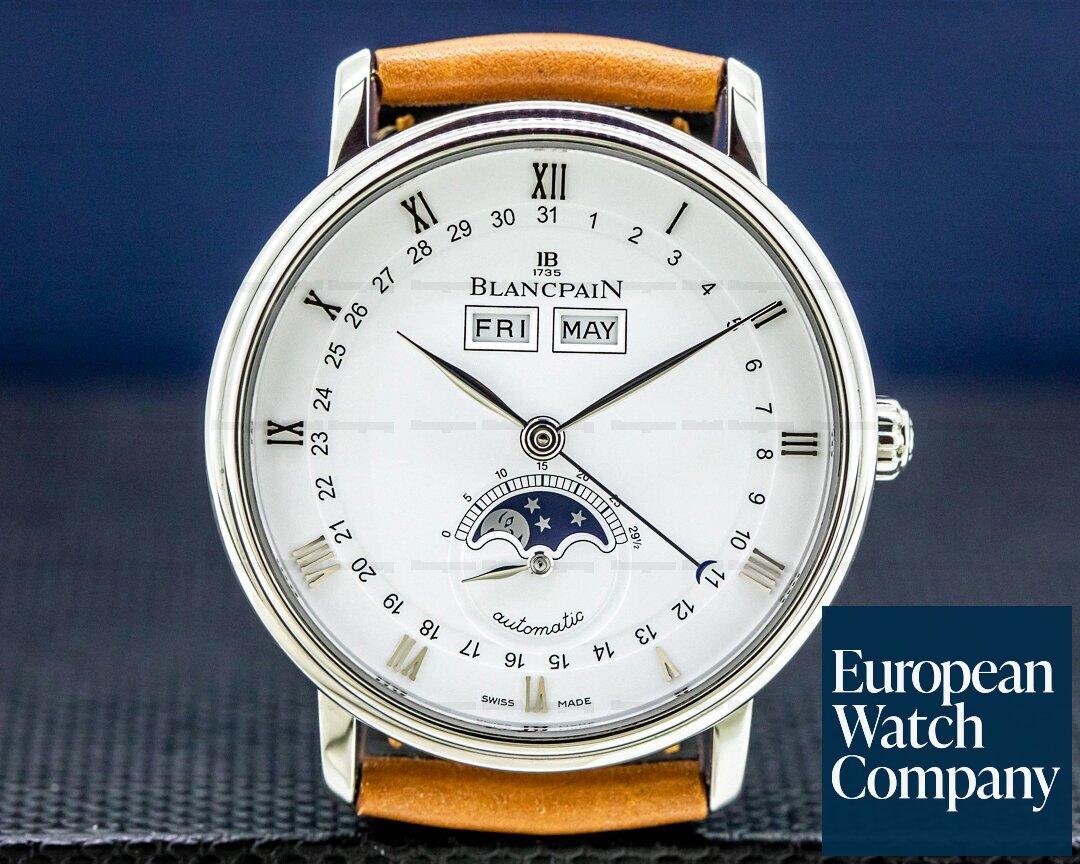 Blancpain Villeret Complete Calendar Moon SS Ref. 6263-1127A-55