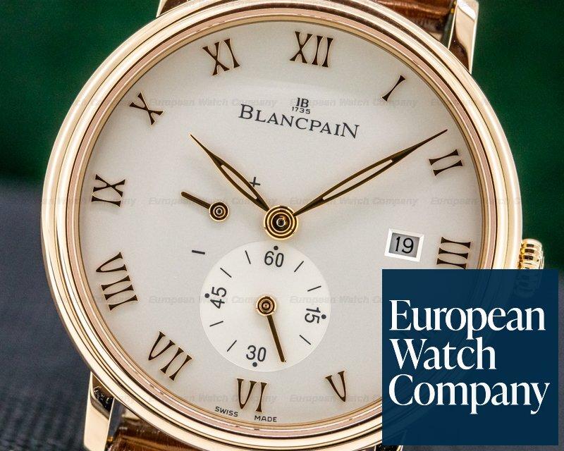 Blancpain 6606-3642-55B Villeret Small Seconds Power Reserve 18k RG Manual Wind 40MM