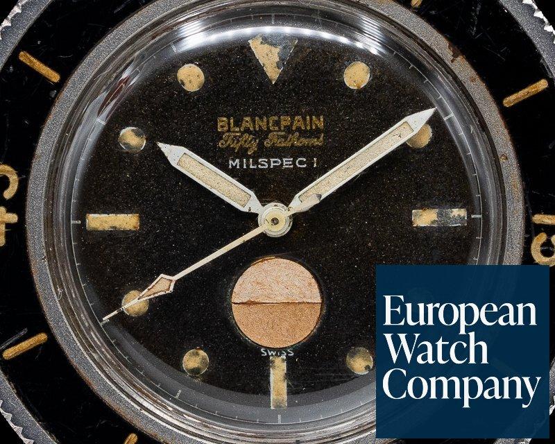 Blancpain Milspec 1 Fifty Fathoms Milspec 1 w/ US Navy Dive Logs Circa 1960