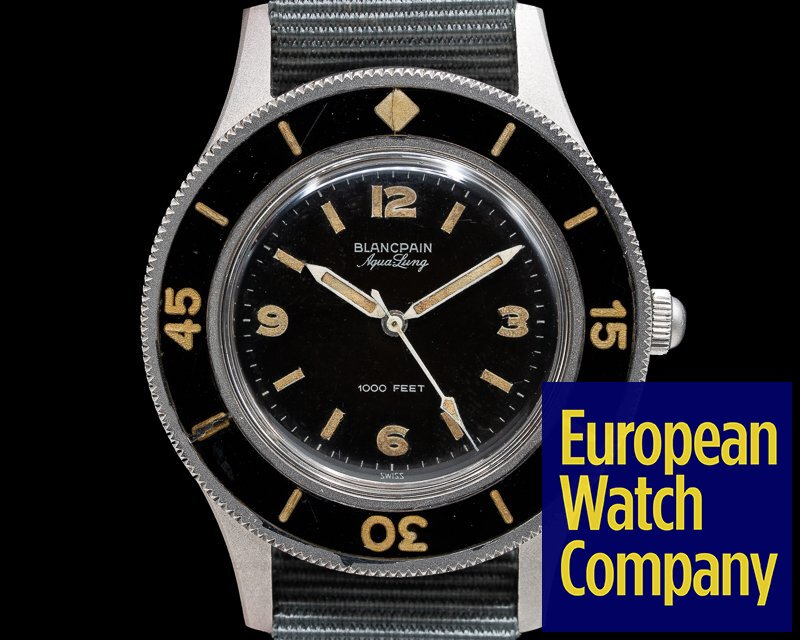 """Blancpain Vintage Fifty Fathoms Aqualung TROPICAL DIAL """"Jacques Cousteau"""" 41MM"""