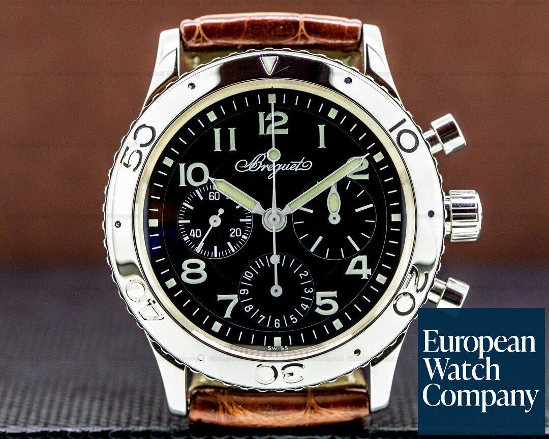 Breguet Type XX Aeronavale Black Dial SS Ref. 3800ST/92/9W6