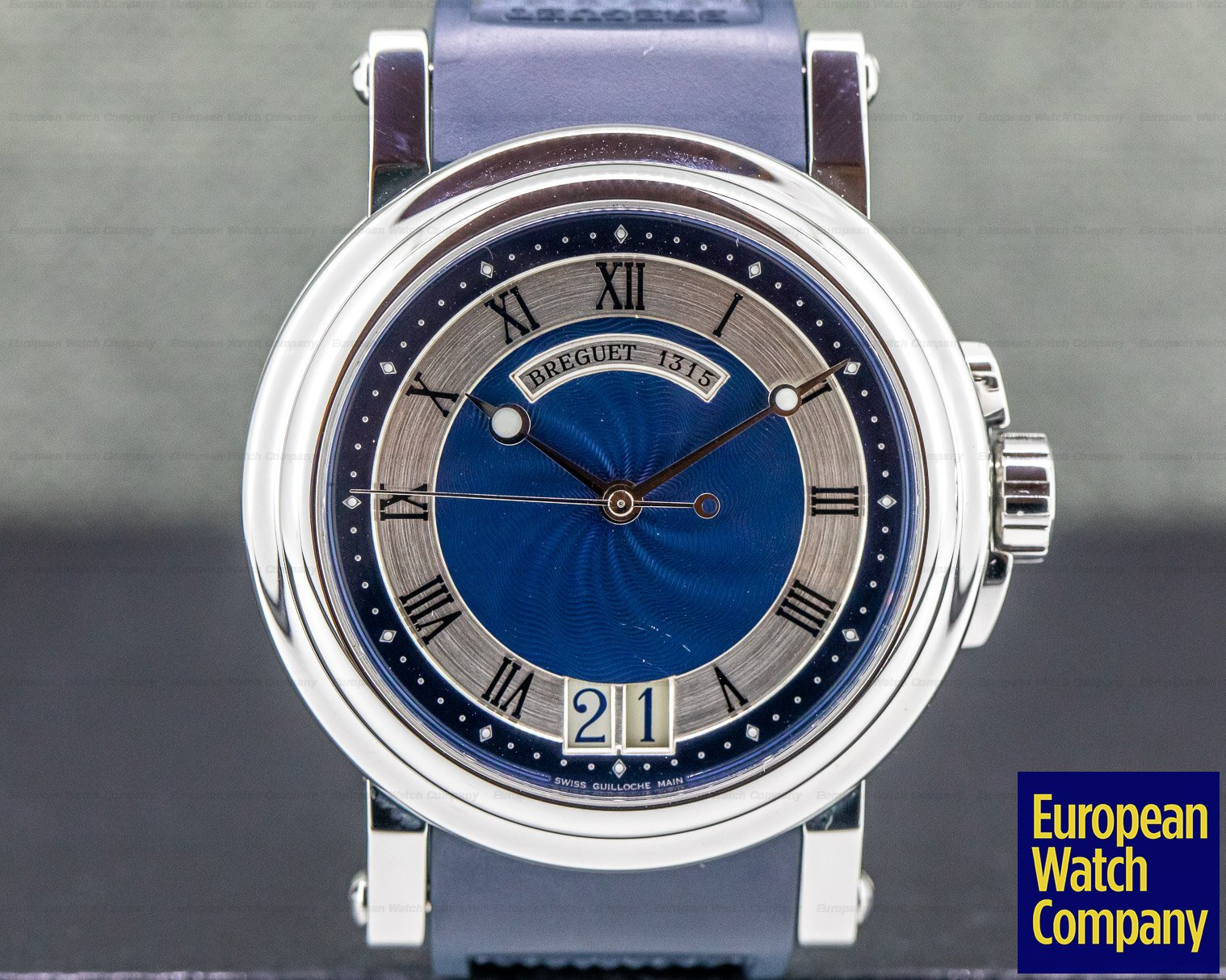 Breguet 5817ST/Y2/5V8 Marine Big Date Blue Dial SS / Rubber