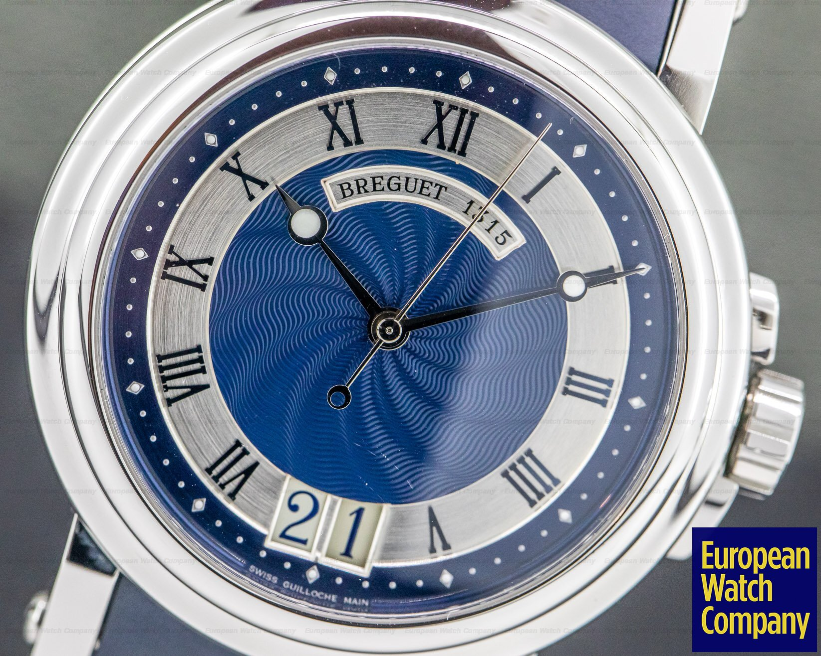 Breguet 5817ST/Y2/5V8 Marine Big Date Blue Dial SS / Rubber