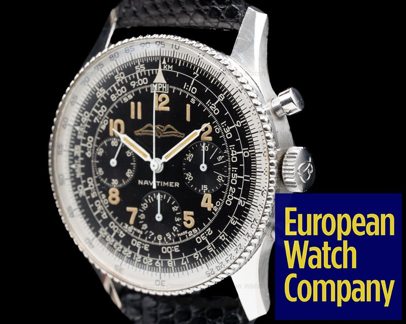 """Breitling 806 Vintage """"ALL BLACK"""" AOPA Navitimer 806 1961 AMAZING CONDITION"""
