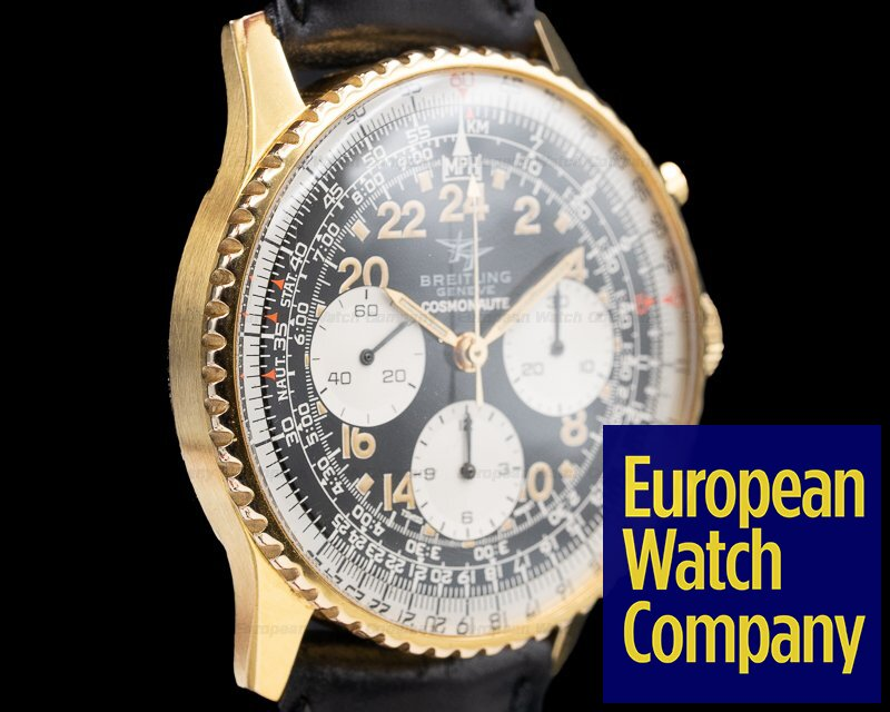 Breitling 809 Vintage Navitimer Cosmonaute Gold Plated Circa 1960's