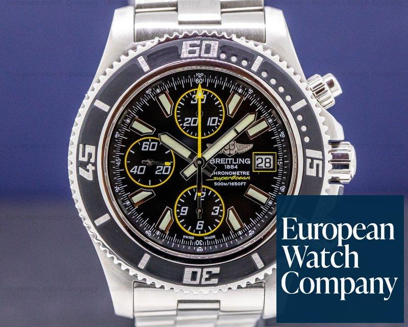 Breitling A1334102/BA82 Super Ocean Chronograph II SS/SS Black Dial 42MM