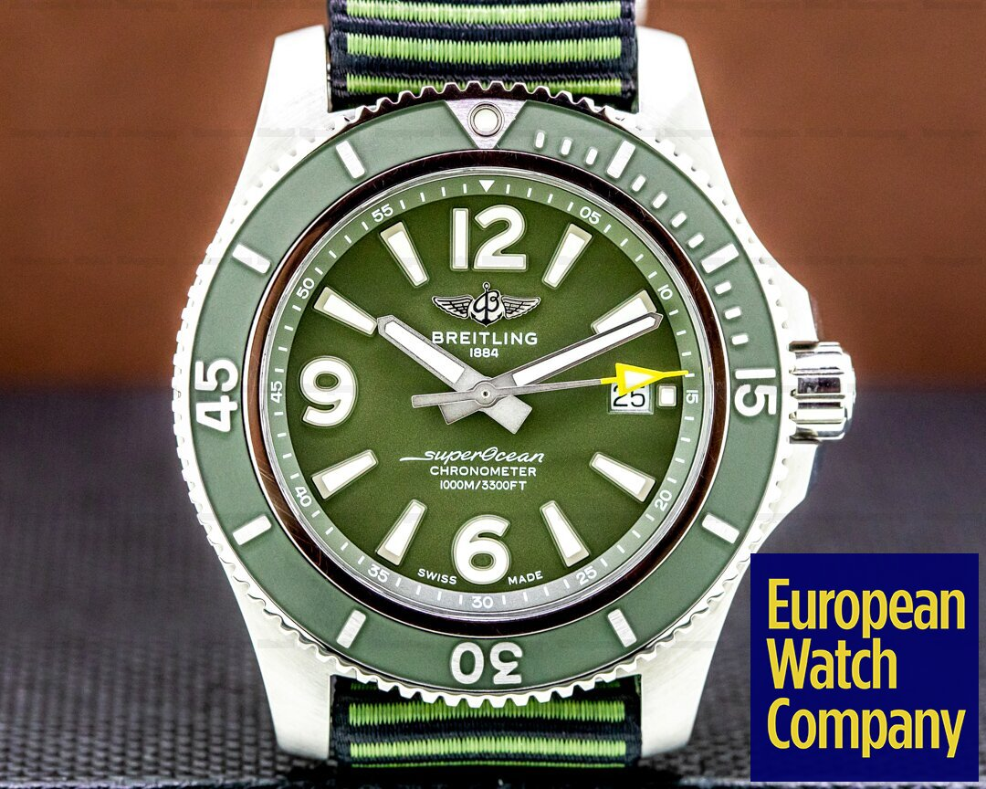 Breitling A17367 SuperOcean 44 OUTERKNOWN SS / Green