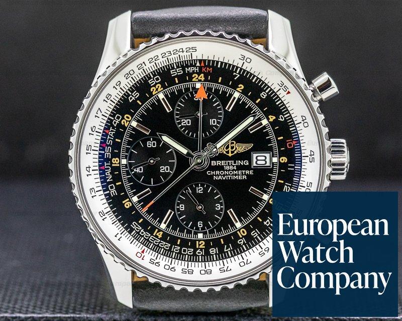 Breitling A2432212/B726 Navitimer World Chronograph Black Dial SS
