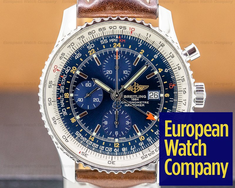 Breitling A2432212/C651 Navitimer World Chronograph Blue Dial SS