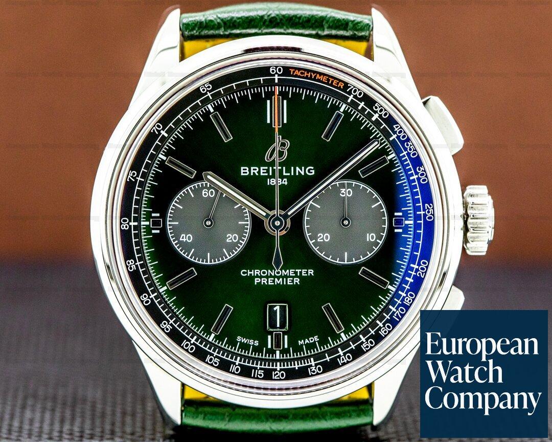 Breitling Premier B01 Bentley Chronograph British Green 42 SS Ref. AB0118A11L1X1