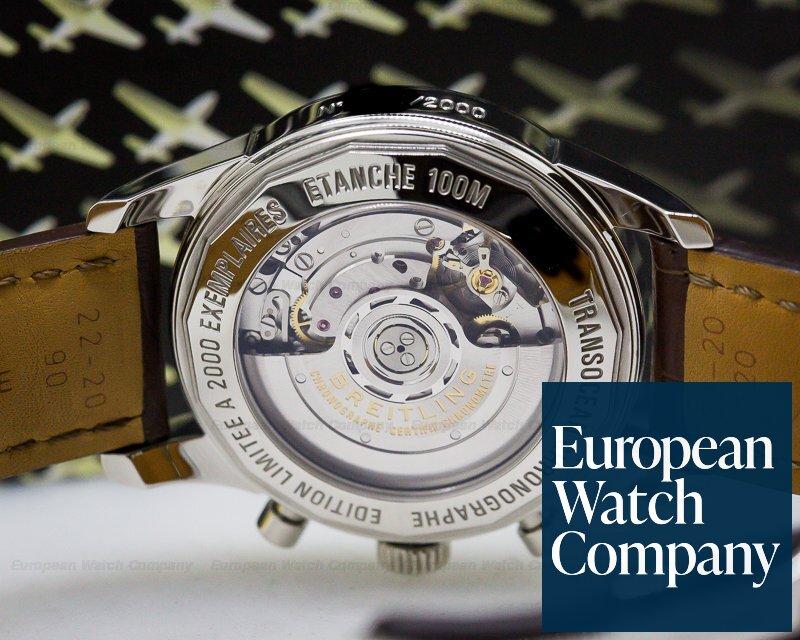 Breitling AB015112/BA59 Transocean Chronograph SS/SS Deployant Black Dial