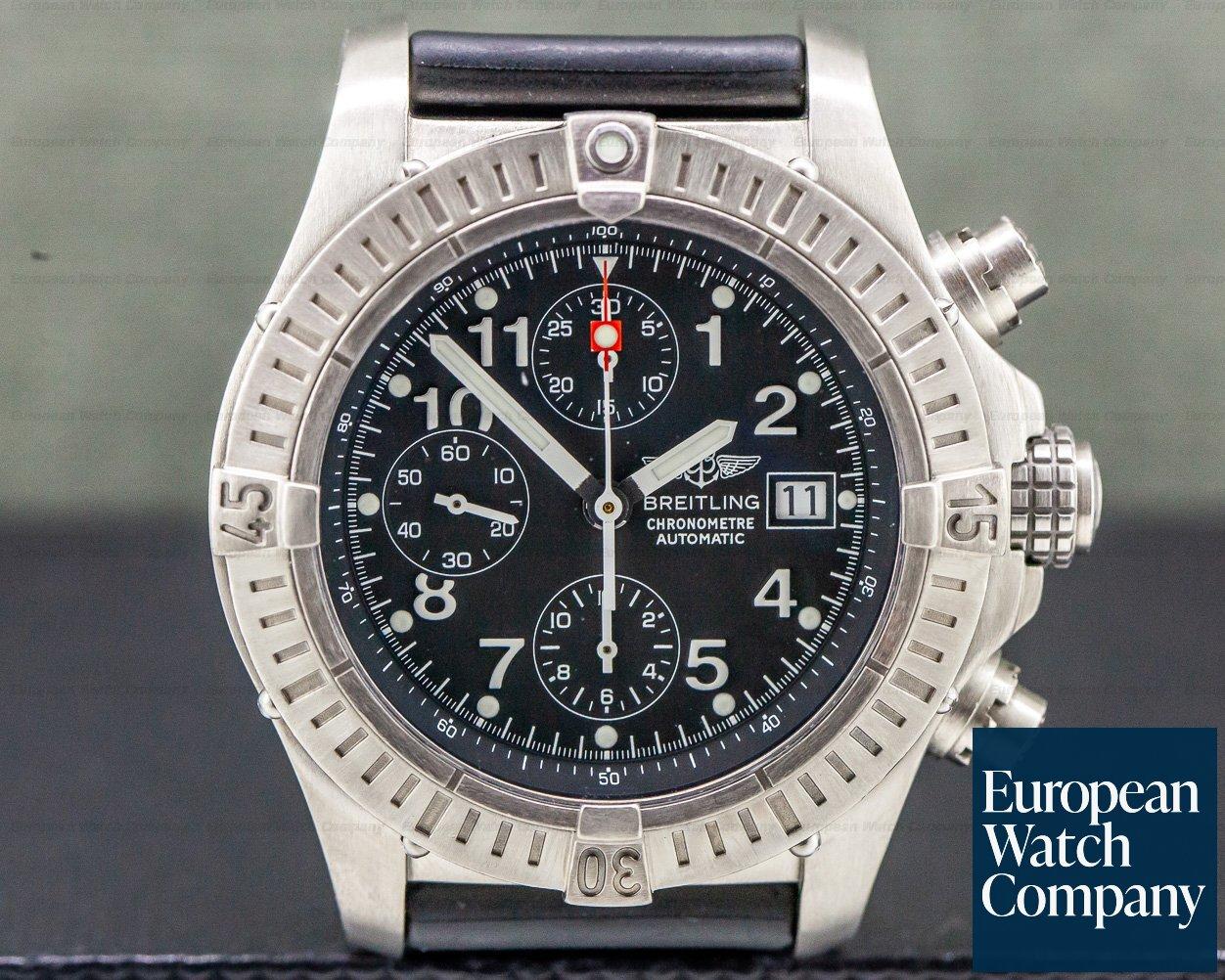 Breitling E13360 Aeromarine Chronograph Avenger Black Dial / Titanium