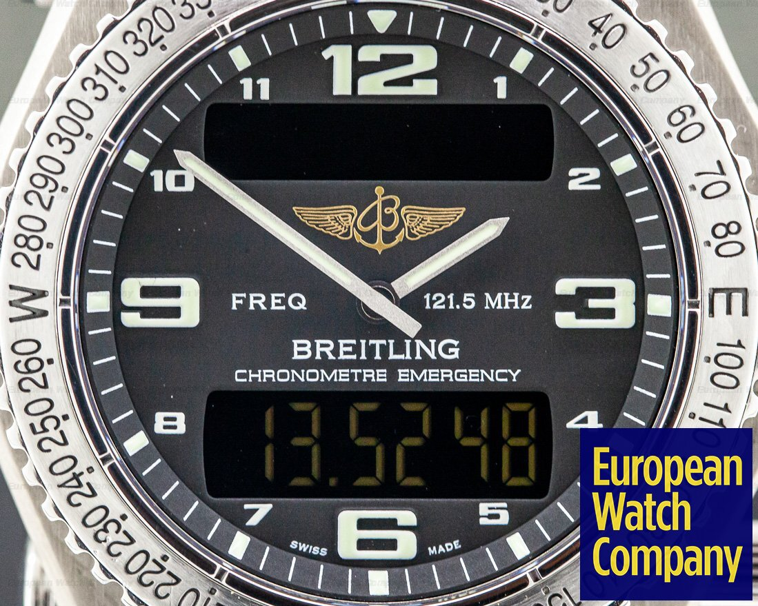Breitling E7632110/B576 Emergency Black Dial SUPERQUARTZ Titanium FULL SET