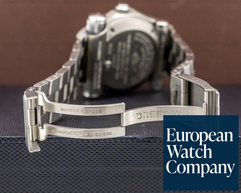 Breitling E7632110/B576 Emergency Black Dial SUPERQUARTZ Titanium FULL SET