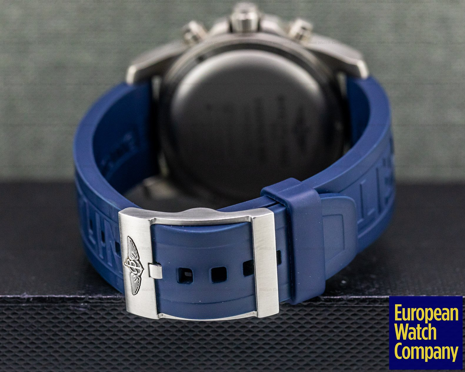 Breitling EB5510 Exospace B55 Connected Titanium / Grey Dial Blue Rubber Strap