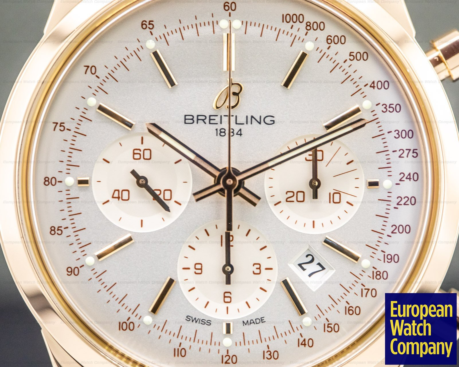 Breitling RB015212/G738-2LD Transocean Chronograph 18K Rose Gold