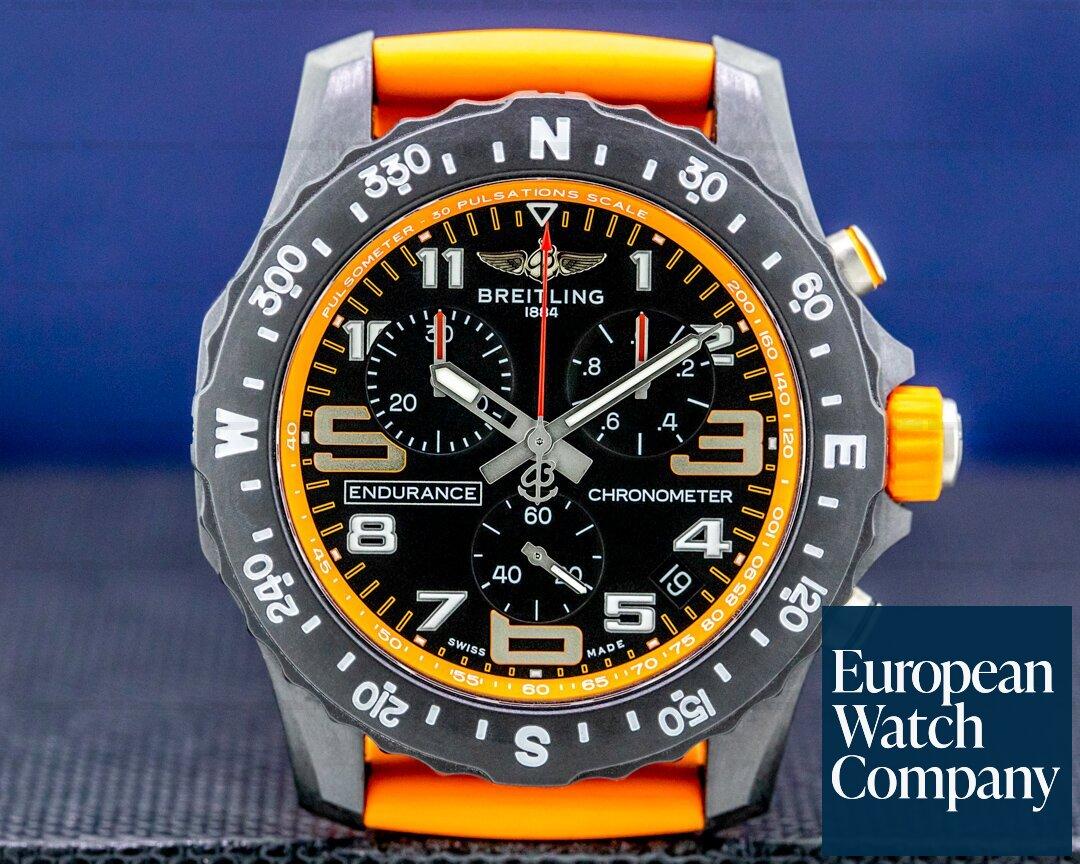 Breitling Endurance Pro Chronograph Orange Strap 2020 Ref. X82310A51B1S1