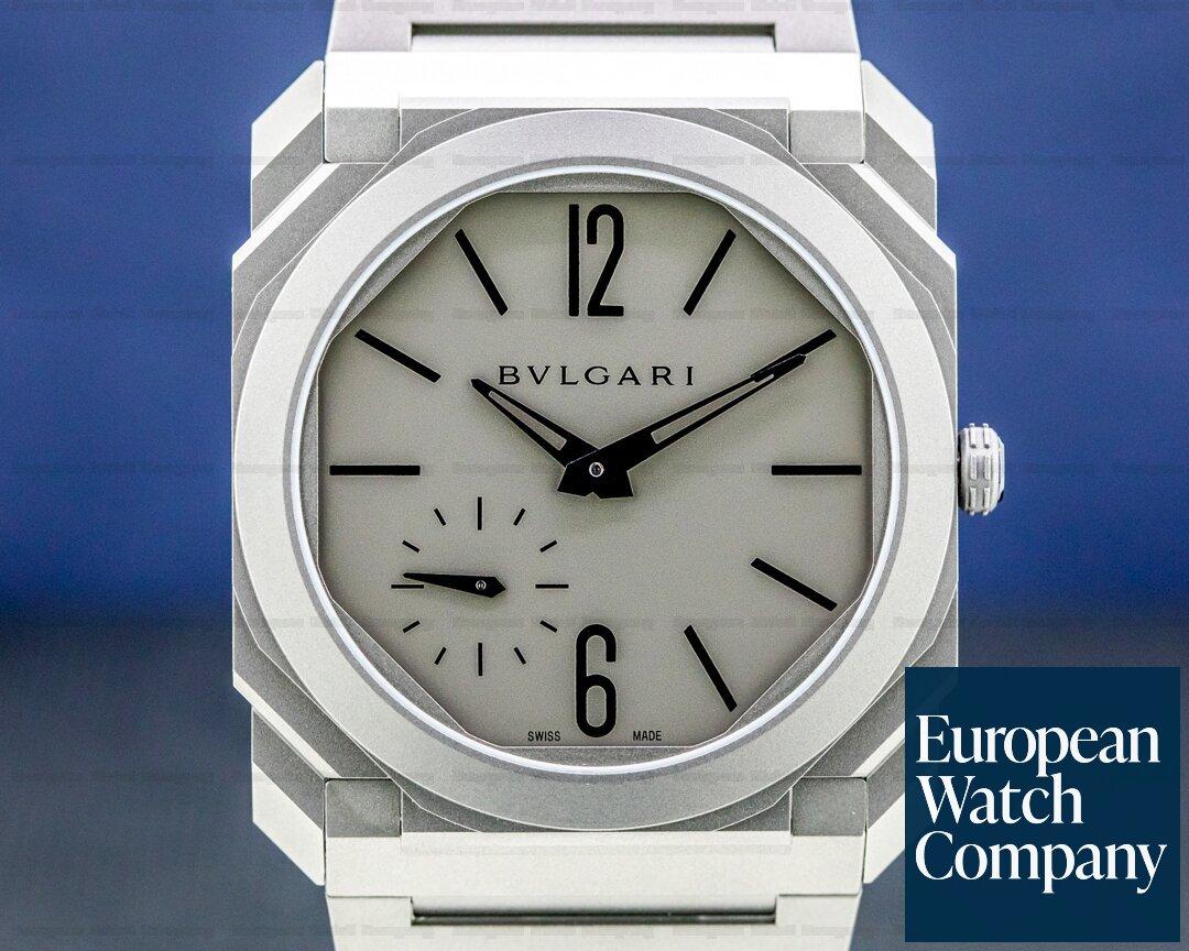 Bulgari 102713 BGO40C14TTXTAUTO Octo Finissimo Extra Thin Grey / Black 40MM