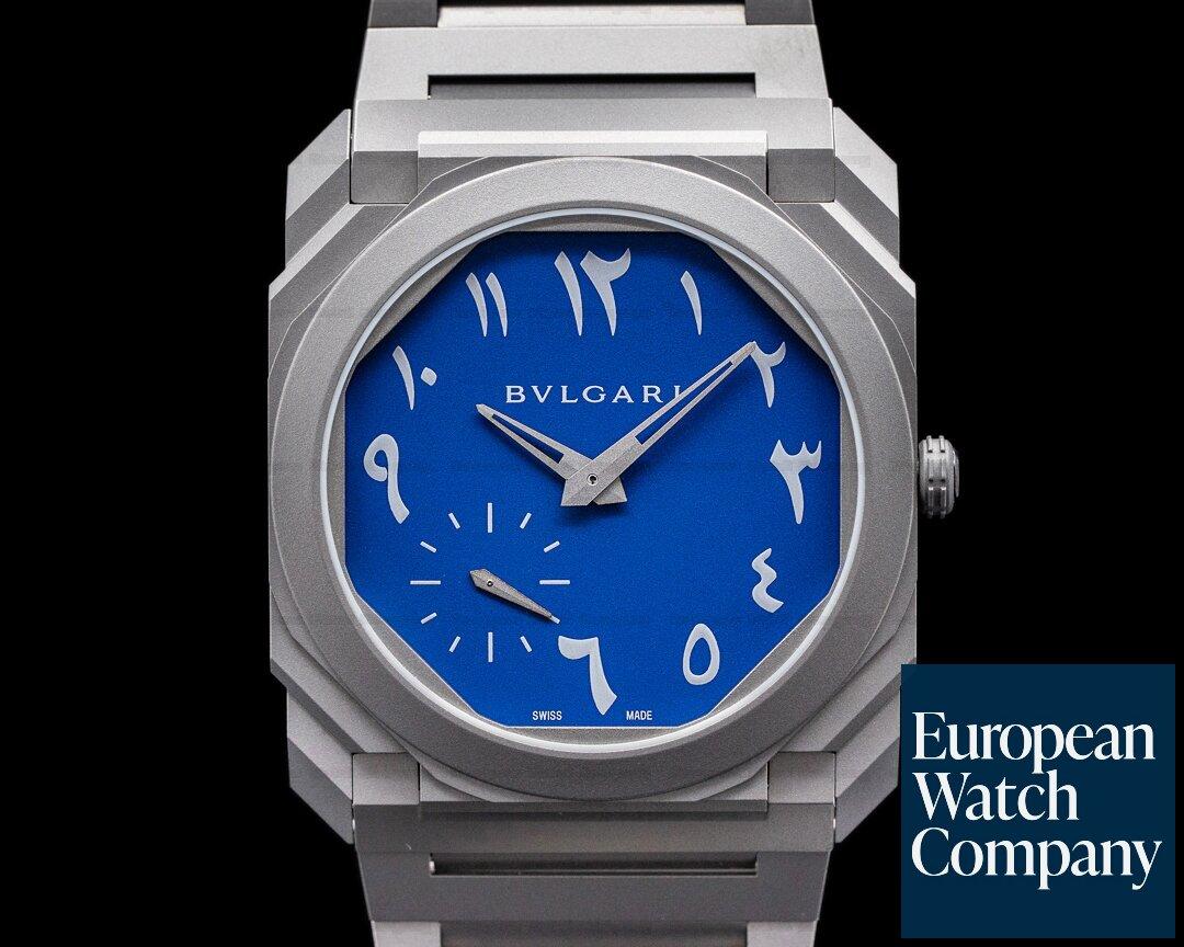 Bulgari Octo Finissimo Extra Thin Titanium ARABIC DIAL Ref. 103301