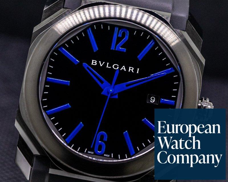 Bvlgari 102814 BGO41C3BSVD Octo Americas DLC Stainless Steel / Black 41MM