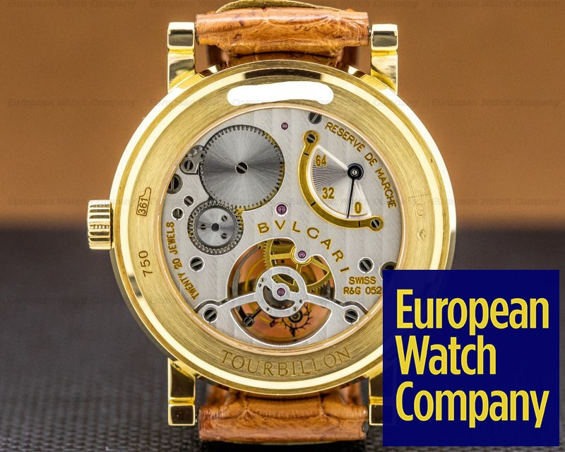 Bvlgari BB38GLTB Bulgari Bulgari Tourbillon 18k Yellow Gold