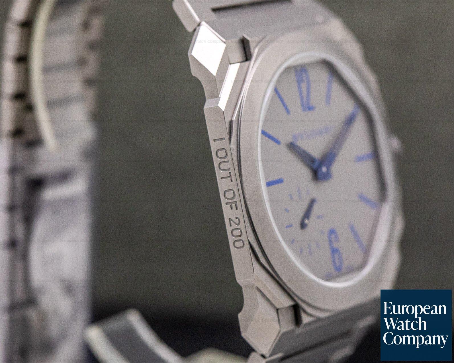 Bvlgari BGO40C14TTXTAUTO Octo Finissimo Titanium Extra Thin Grey / Blue 40mm