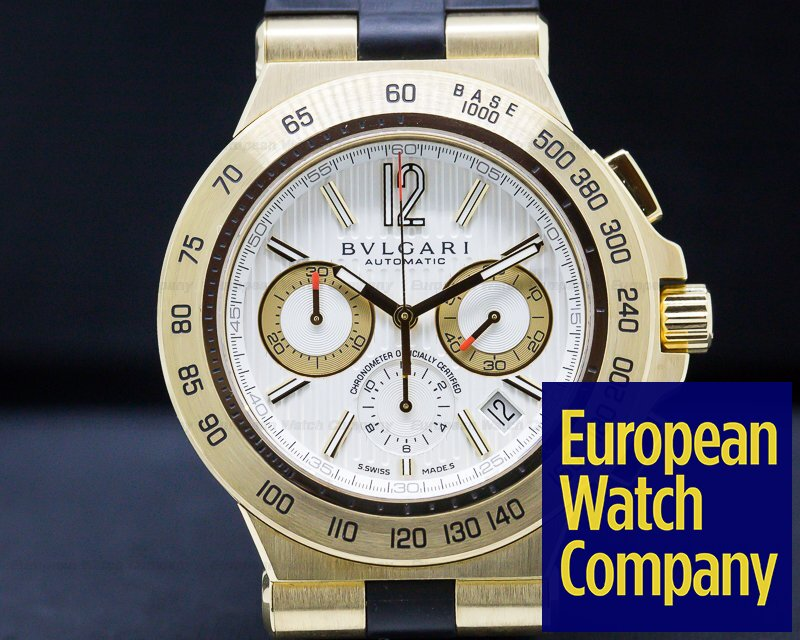 Bvlgari DP42C6GLDCH Bulgari Diagono Professional Chronograph 18K Yellow Gold