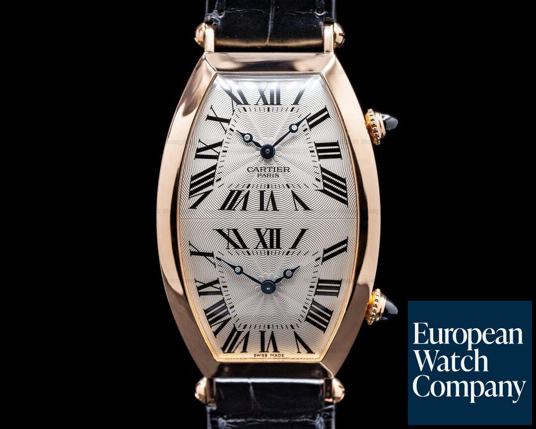 Cartier 2805 Tonneau XL 2805 Dual Time COLLECTION PRIVEE CPCP