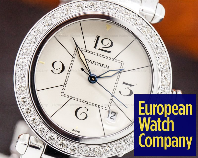 Cartier Pasha 38 Pasha 38 18K White Gold / Bracelet Diamond Bezel