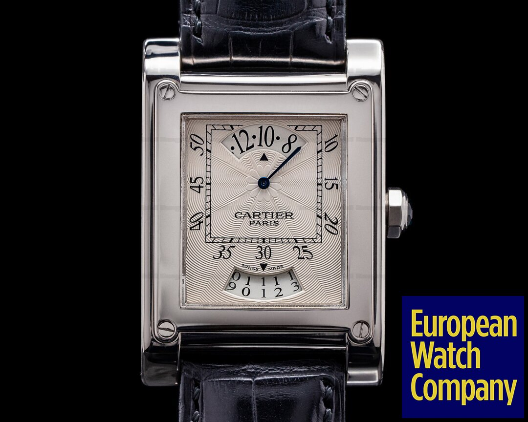 Cartier W1533451 Tank a Vis Wandering Hour Privee Collection 18K White Gold W1529451
