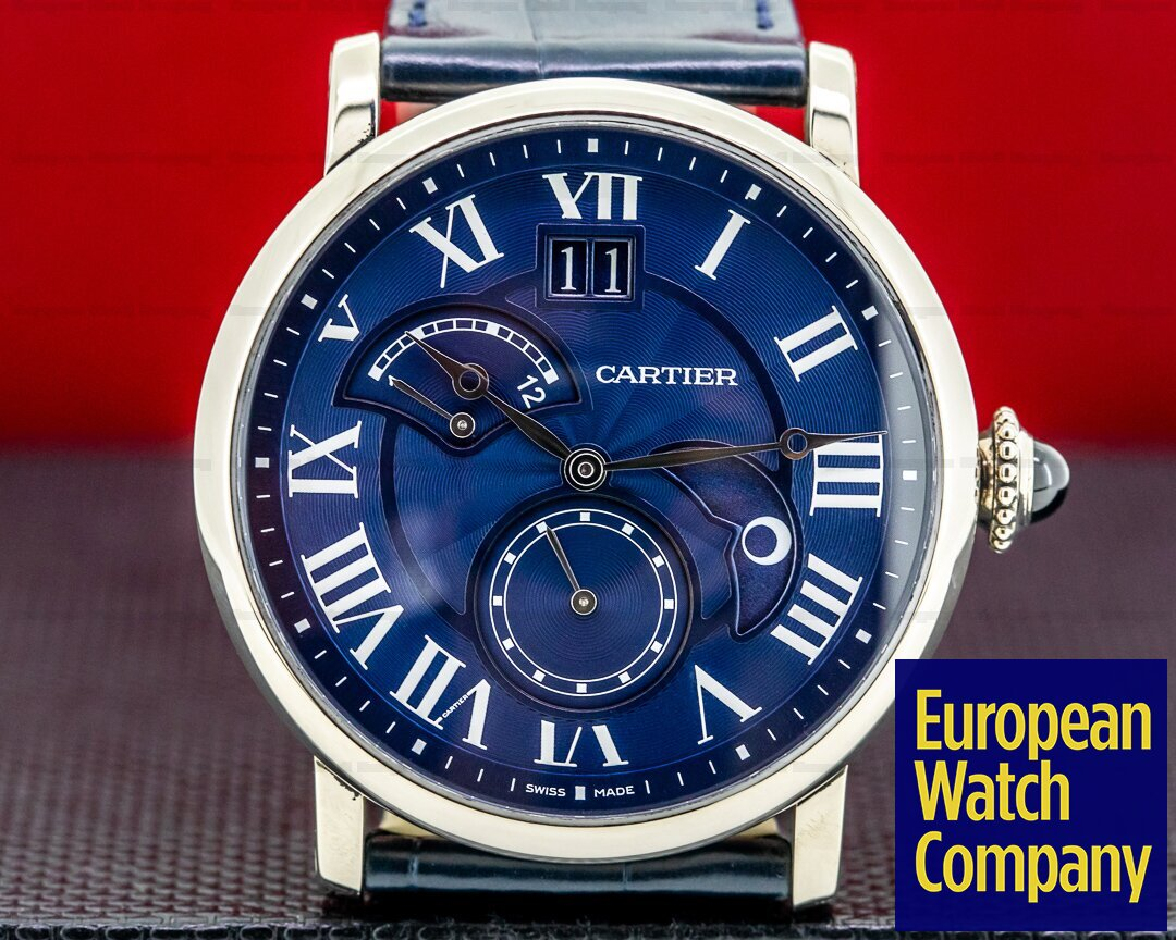 Cartier Rotonde Second Time Zone Day Night White Gold Limited to 200 Examples Ref. W1556241