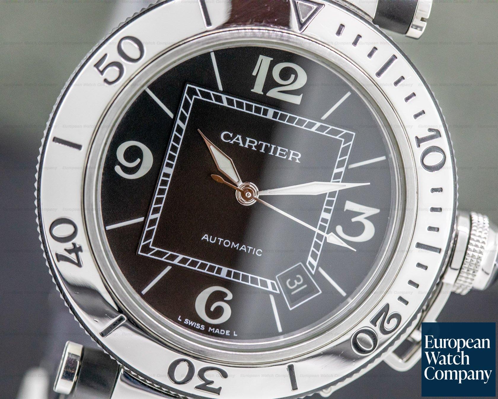Cartier W31077U2 Pasha Seatimer Rubber / SS