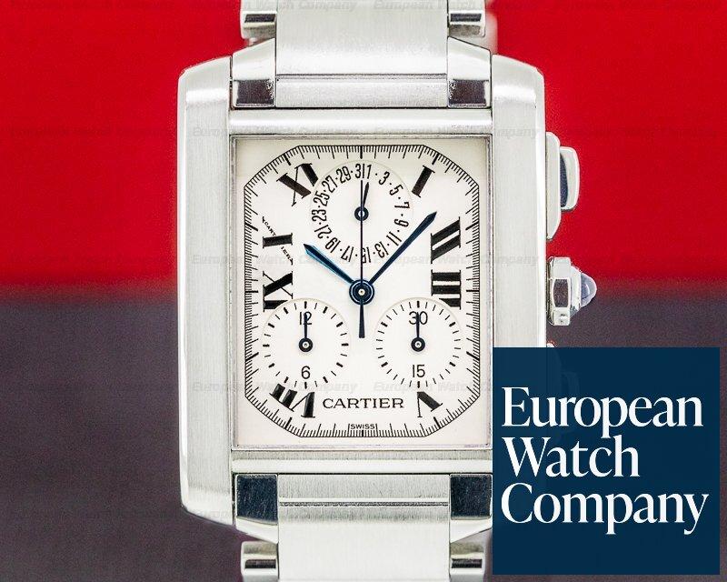 Cartier W51001Q3 Tank Francaise Chronoflex Quartz Chronograph SS