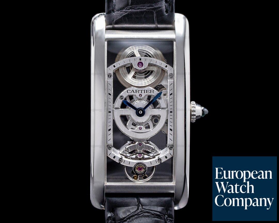 Cartier Tank Cintree WHTA0009 Skeleton Platinum LIMITED RARE Ref. WHTA0009