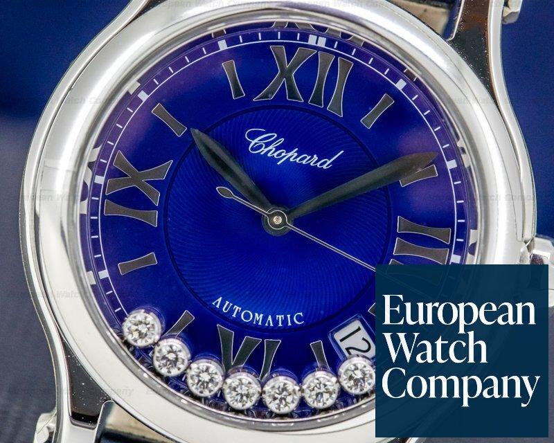 Chopard 278559-3008 Happy Sport Medium Automaitc 36mm Blue Dial UNWORN