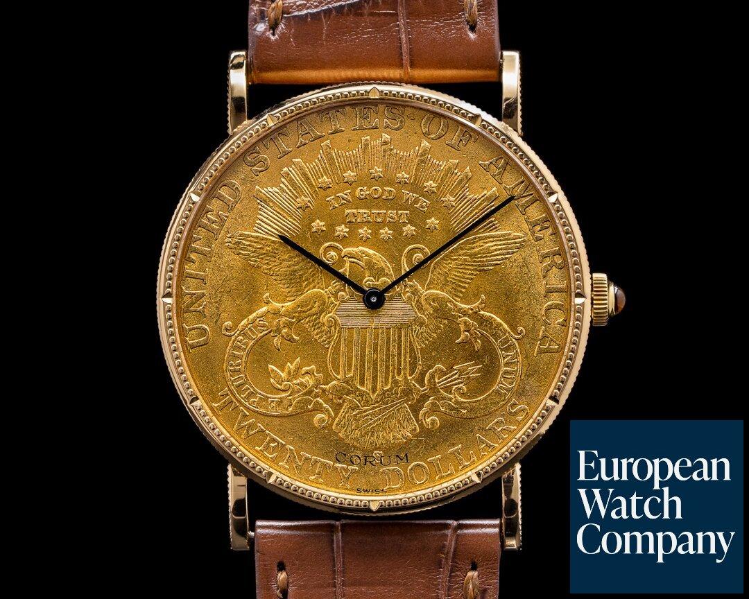 Corum 082.355-56 United States $20 Coin 1897 YG Manual Winding 18k Tang Buckle