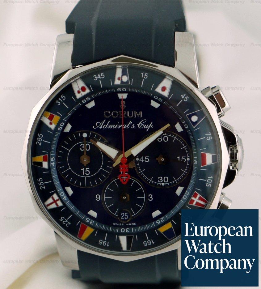 Corum Admirals Cup Chrono Blue Dial/Rubber Strap Ref. 60320.402805