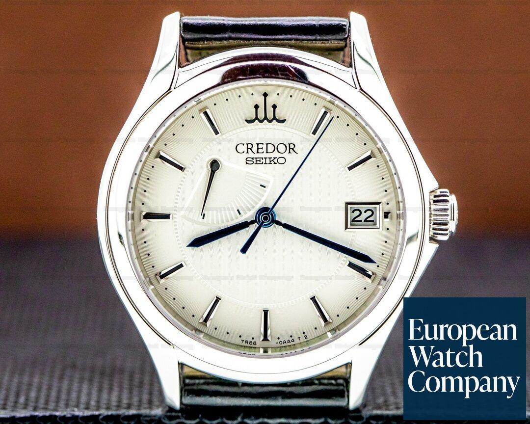 Credor by Grand Seiko GBLH999 Credor Spring Drive Power Reserve 18k WG / Deployment