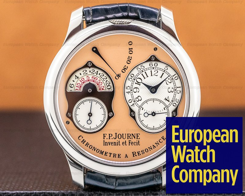 F. P. Journe Chronometre Resonance  Chronometre Resonance Platinum / Salmon Dial 40MM