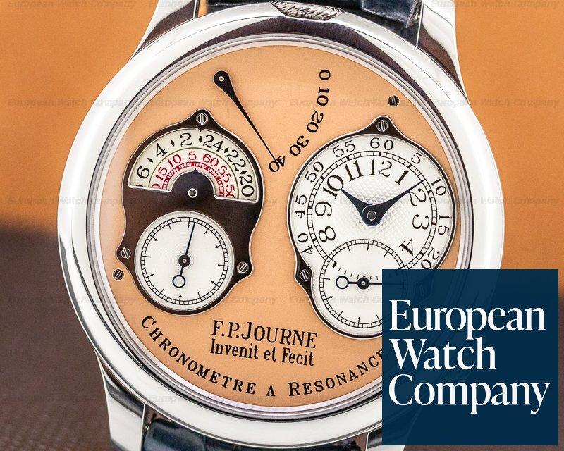 F. P. Journe Chronometre Resonance Chronometre Resonance Platinum / Salmon Dial 40MM