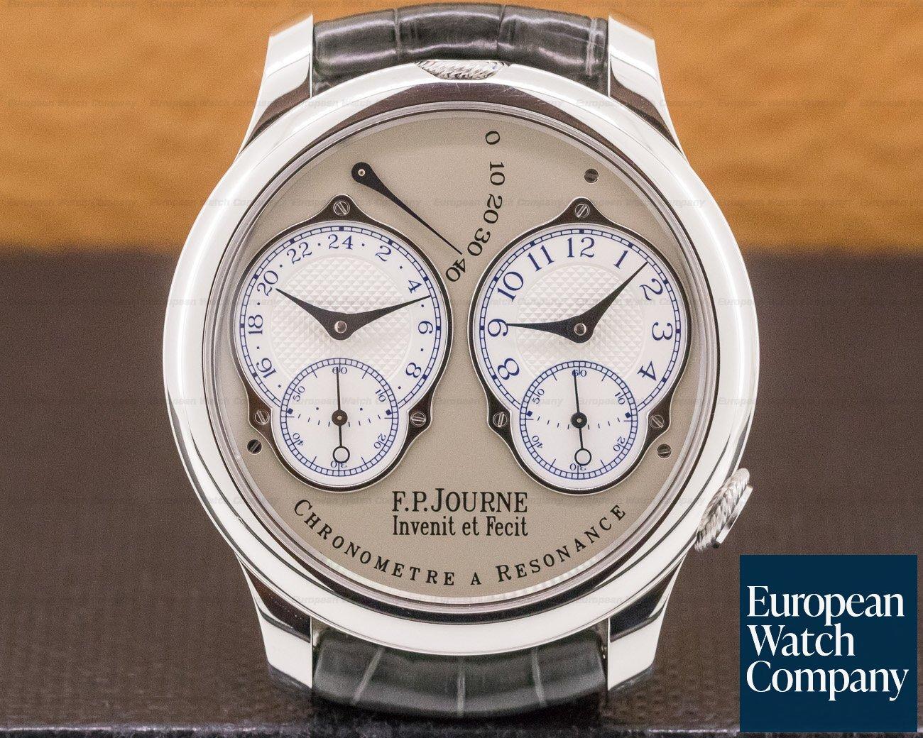 F. P. Journe Chronometre Resonance Fi Chronometre Resonance Platinum Silver Dial 40MM FINAL EDITION