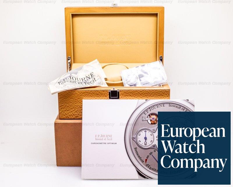 F. P. Journe Optimum Platinum 42 Chronometre Optimum Platinum Silver Dial / Deployment Buckle 42MM