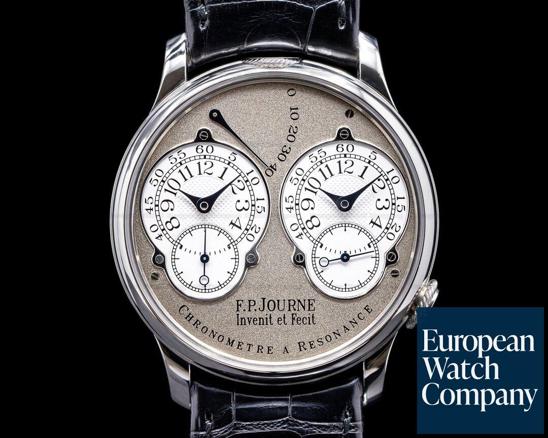 F. P. Journe Resonance Brass 38MM  Chronometre Resonance Platinum 38MM BRASS 2003 FULL SET FPJ SERVICED