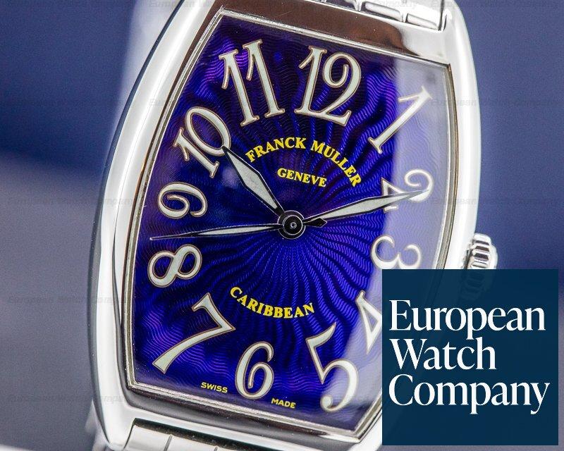 "Franck Muller 2852 Cintree Curvex Casablanca ""Caribbean"" Blue Dial"