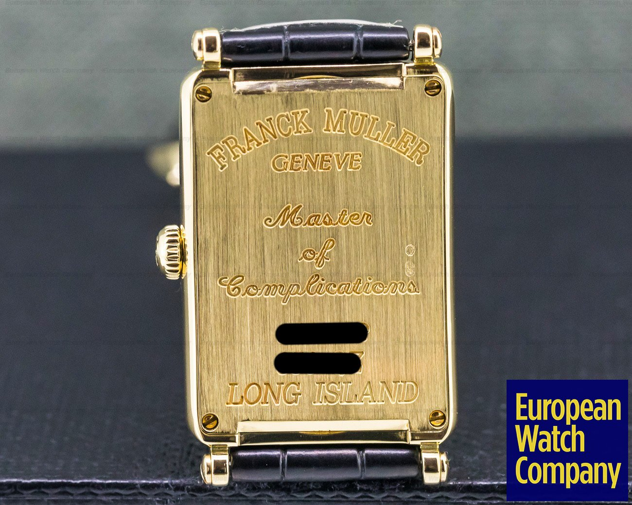 Franck Muller 950 QZ Long Island 18k Yellow Gold