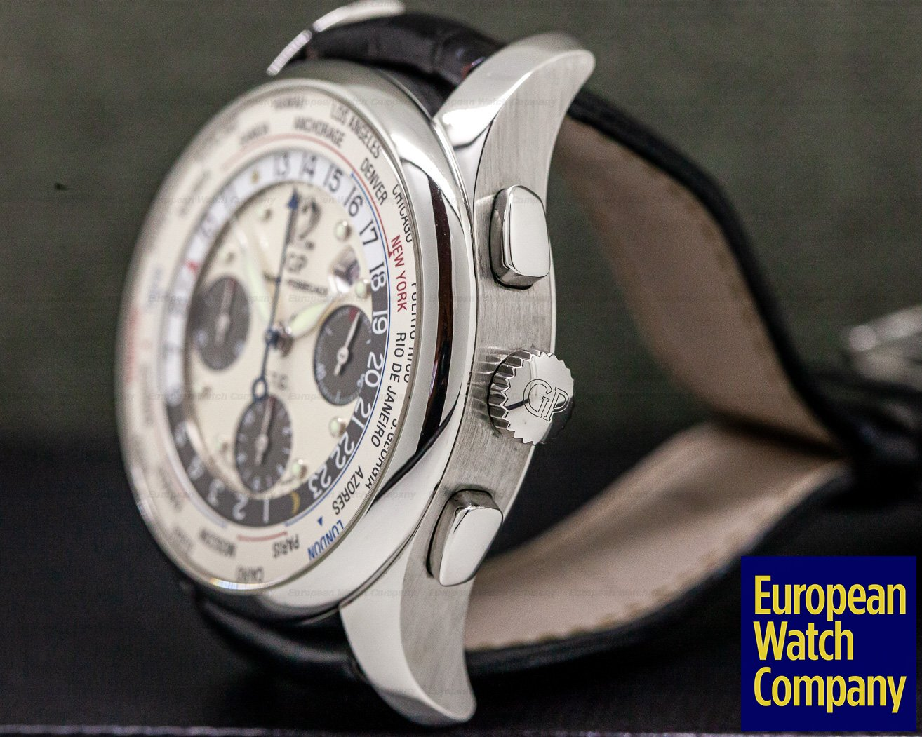 Girard Perregaux 49805-11-152-11A World Time WW.TC Chronograph SS / Silver Dial