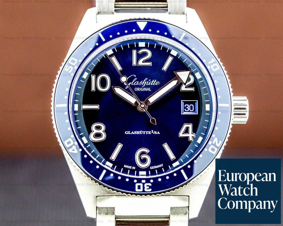 Glashutte Original SeaQ Blue Dial SS / Bracelet Ref. 1-39-11-09-81-70