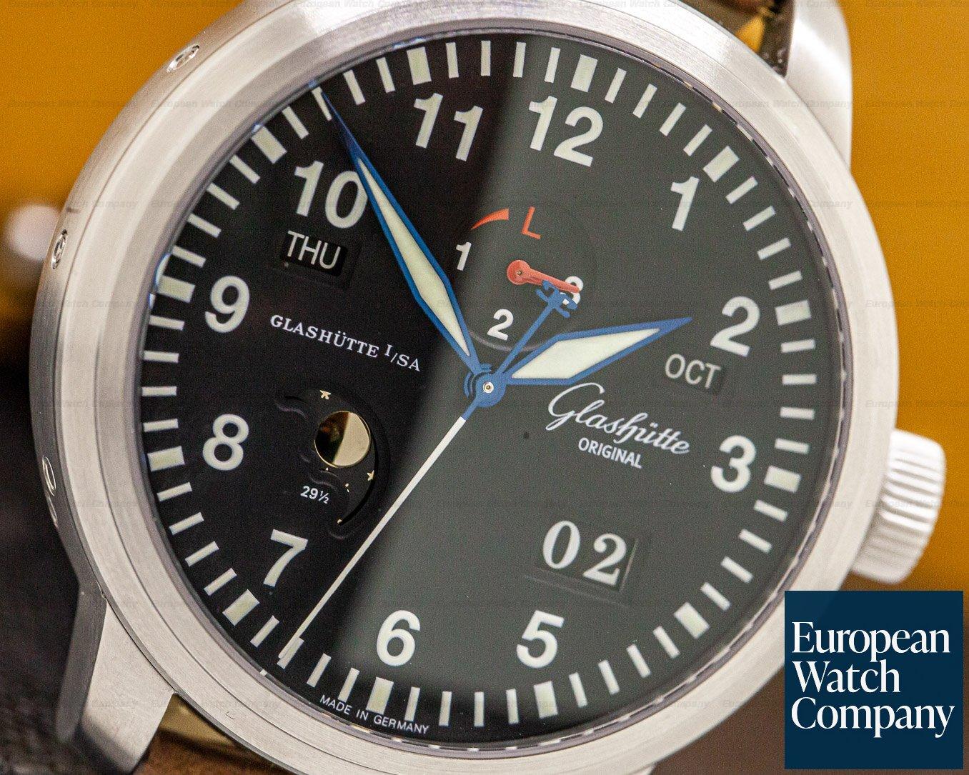 Glashutte Original 100-07-07-05-04 Navigator Perpetual Steel Black Dial